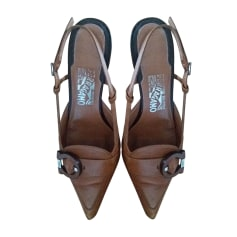 Pumps, Heels SALVATORE FERRAGAMO Brown