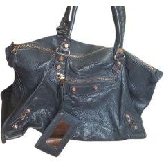 Leather Oversize Bag BALENCIAGA Gray, charcoal