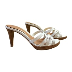 Heeled Sandals SERGIO ROSSI White, off-white, ecru