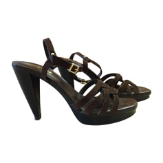 Wedge Sandals SERGIO ROSSI Brown