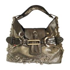 Leather Shoulder Bag JIMMY CHOO Silver