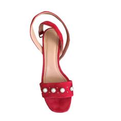 Sandales à talons CLAUDIE PIERLOT Rouge, bordeaux