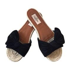 Sandales plates  VALENTINO Noir