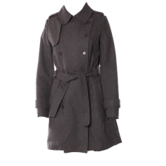 Waterproof, Trench MAJE Gray, charcoal