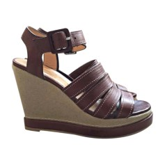 Sandales compensées ROBERT CLERGERIE Beige, camel