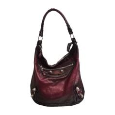 Leather Handbag BALENCIAGA Day Red, burgundy