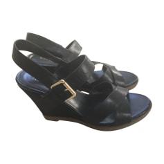 Sandales compensées RALPH LAUREN Noir
