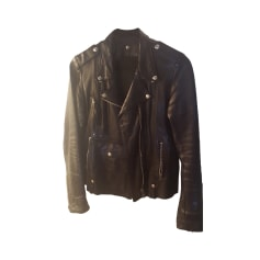 Leather Jacket GOLDEN GOOSE Black
