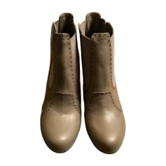 Santiags, bottines, low boots cowboy ALEXANDER MCQUEEN Gris, anthracite