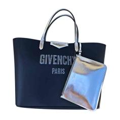 Leather Handbag GIVENCHY Antigona Blue, navy, turquoise