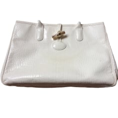 Leather Handbag LONGCHAMP White, off-white, ecru