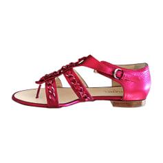 Sandales plates  CHANEL Rose, fuschia, vieux rose