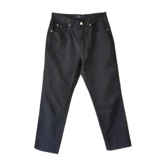Pantalon droit VALENTINO Bleu, bleu marine, bleu turquoise