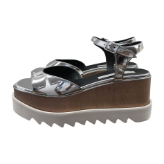 Sandales compensées STELLA MCCARTNEY Blanc, blanc cassé, écru