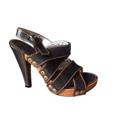 Heeled Sandals FREE LANCE Brown