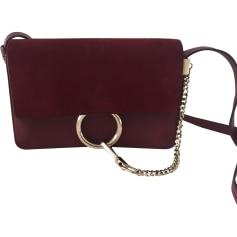 Leather Shoulder Bag CHLOÉ Red, burgundy