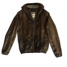 Leather Zipped Jacket GIORGIO BRATO Khaki