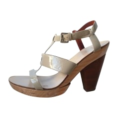 Wedge Sandals GIVENCHY Beige, camel