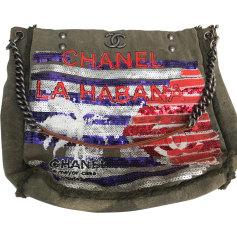 Stofftasche groß CHANEL Khaki