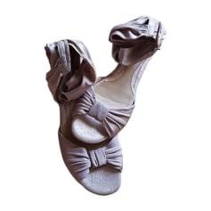 Sandales plates  FENDI Violet, mauve, lavande