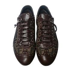 Chaussures à lacets FENDI Marron