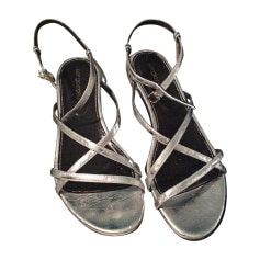 Flat Sandals SERGIO ROSSI Silver