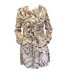 Manteau en fourrure KAREN MILLEN Blanc, blanc cassé, écru