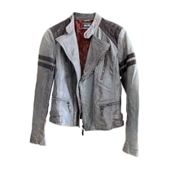 Leather Jacket JEAN PAUL GAULTIER Gray, charcoal