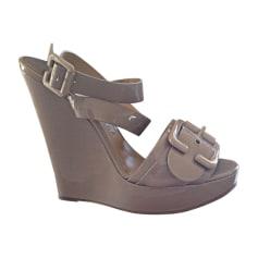 Sandales compensées CHLOÉ Taupe
