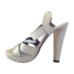 Sandales à talons BARBARA BUI Blanc, blanc cassé, écru