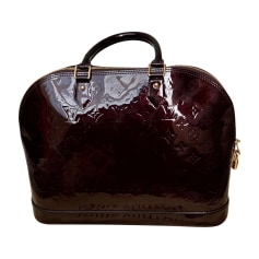 Leather Handbag LOUIS VUITTON Alma Red, burgundy