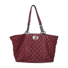 Leather Handbag CHANEL Red, burgundy