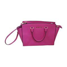 Leather Shoulder Bag MICHAEL KORS Pink, fuchsia, light pink