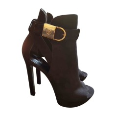 High Heel Ankle Boots LOUIS VUITTON Black