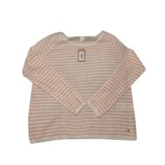 Sweater DES PETITS HAUTS Blanc et rose pâle