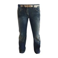 Pantalon droit DOLCE & GABBANA Bleu, bleu marine, bleu turquoise