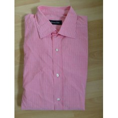 Chemise MASSIMO DUTTI rose avec rayures blanches