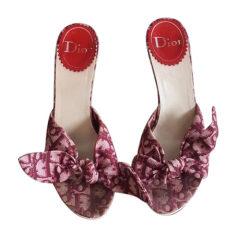 Sandales à talons DIOR Rouge, bordeaux