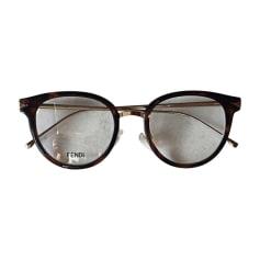 Monture de lunettes FENDI Écaille