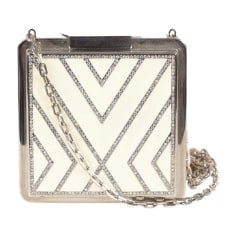 Non-Leather Clutch VALENTINO White, off-white, ecru