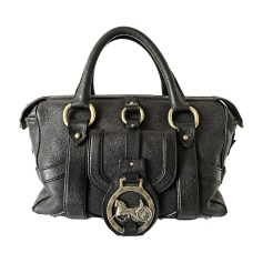 Leather Handbag CÉLINE Black