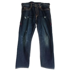 Straight Leg Jeans TRUE RELIGION Blue, navy, turquoise