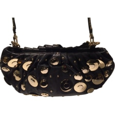 Leather Clutch DIANE VON FURSTENBERG Black