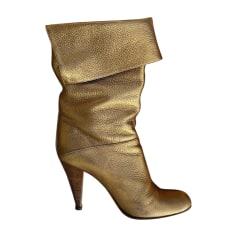 High Heel Boots CASADEI Golden, bronze, copper