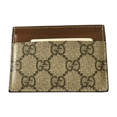 Card Case GUCCI Beige, camel