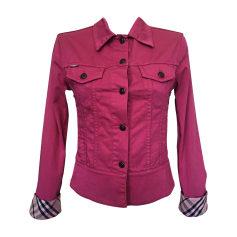 Giacca di jeans BURBERRY Rosa, fucsia, rosa antico