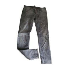Jeans slim DSQUARED Gris, anthracite