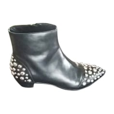 Flat Ankle Boots MARC JACOBS Black