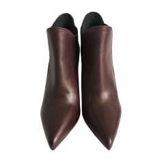 High Heel Ankle Boots YVES SAINT LAURENT Red, burgundy