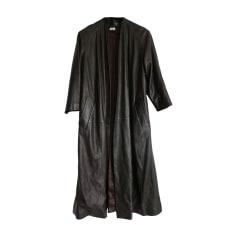 Cappotto di pelle HERMÈS Marrone
